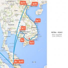 Utazásunk merföldkövei: Kambodzsa - Vietnám - Malajzia